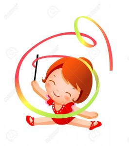 15910547-Girl-practicing-rhythmic-gymnast-performing-with-ribbon--Stock-Vector